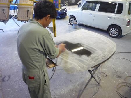 カーボンボンネット塗装
