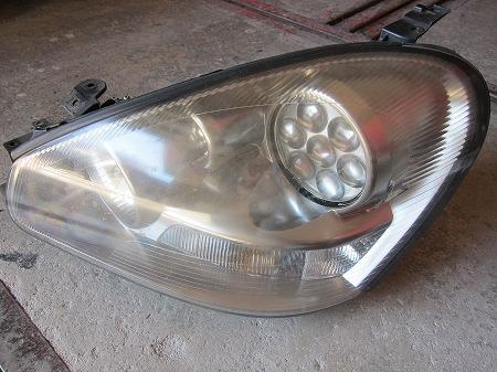 ヘッドライト クリアー塗装